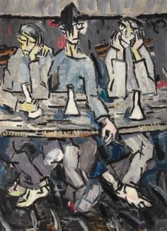 View The Pub (Late By Constantin Piliuţă; Oil on cardboard; x cm; Access more artwork lots and estimated & realized auction prices on MutualArt. Post Impressionism, Impressionist Art, Art Database, Bar, 1950s, Cool Stuff, Artist, Painting, Fictional Characters