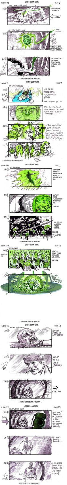 greenlanternstyoryboard.jpeg (580×4188) Tim Burgard has been kind enough to share those original storyboards that Guggenheim used to sell the film, which show off some iconic Lantern scenes and some pretty epic set pieces that just didn't look this cool in execution. Check out the art pitch below and let us know what you think: