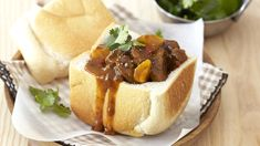 Recipe of the week: Bunny Chow with Mutton & Peas #indiandelight  #heartydish #heartAfrica #TasteofHome #recipes
