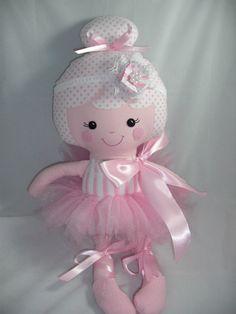 Custom Handmade Cloth doll Ballerina Doll by cocomia on Etsy, $50.00