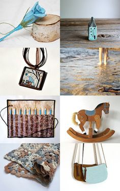 And blue met brown by Ana Martín on Etsy--Pinned with TreasuryPin.com
