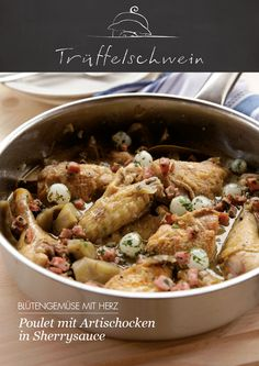 Poulet mit Artischocken in Sherrysauce #artichokes #chicken #sherry #soulfood