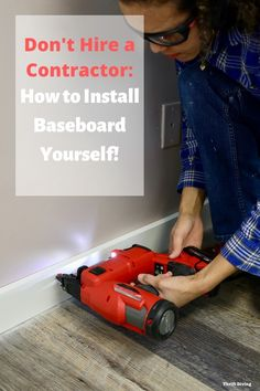 How to Install Baseboard Yourself: A Step-by-Step Guide. You don't have to hire a contractor to add baseboards to your home. Here's how you install baseboards yourself and the tools you need to do it. Home Renovation, Home Remodeling, Wood Baseboard, Baseboard Styles, How To Install Baseboards, Moldings And Trim, Moulding, Baseboard Molding, Wainscoting