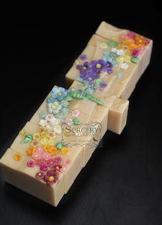 Honeysuckle Cold Process Soap | http://sorcerysoap.com