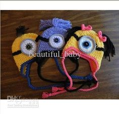 Wholesale Children's Caps & Hats - Buy Baby Hat Despicable Me Minion Hat Beanie Girl Boy Yellow Purple, $4.34 | DHgate