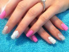 Glitzy Summer nails