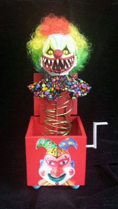 Halloween Jack In The Box Prop.326 Best Creepy Clown Carnival Party Images In 2016 Carnival