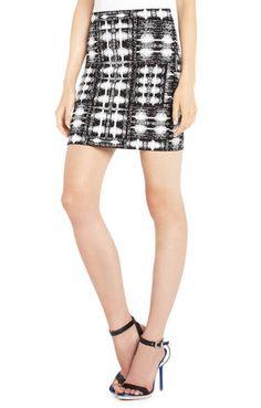 Simone Ikat Power Skirt | BCBG MAX AZRIA