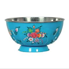 hand painted salad bowl - by karma living