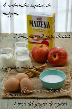 Aroma a canela y limón: TARTA DE MANZANA CON YOGUR Cake Recipes, Dessert Recipes, Bakery Cafe, Cooking Time, Love Food, Sweet Tooth, Food And Drink, Healthy Recipes, Apple