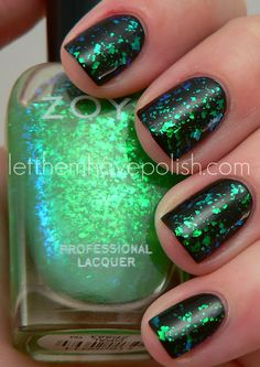 I used Opal over Midori for my St. Paddy's day mani. ♥ Zoya