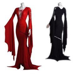 Medieval Lace Up V-Neck Dress