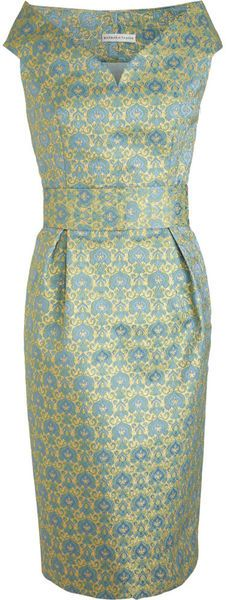 Barbara Tfank Portrait Belted Dress -