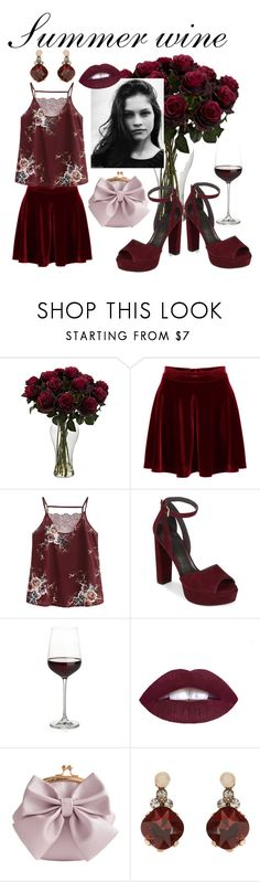 """""""Summer wine"""" by pollyguacamole on Polyvore featuring WithChic, Stuart Weitzman, Crate and Barrel, L.A. Girl, Accessorize, Summer, fashionblog and fashionset"""