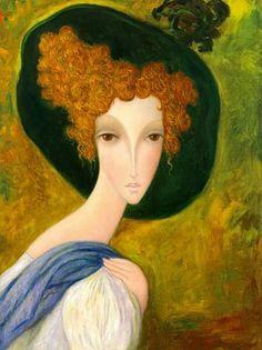 (Russia) Regard doux by Sergey Smirnov (1953- 2006). Oil on canvas.