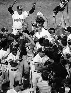 Garvey and the Padres celebrate winning the 1984 NLCS vs the Cubs.