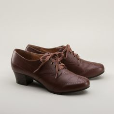Claire 1940s Oxfords by Royal Vintage (Brown)(Pre-Order)