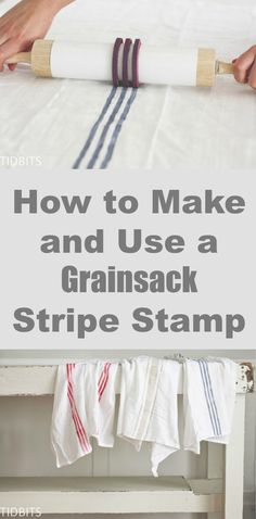 This is absolutely genius! Make your own Grainsack towels and accessories using this stripe stamp method.