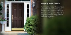 Front Entry 6 panel black door with 2 full sidelights