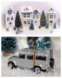 DIY Michaels Birdhouse Christmas Village