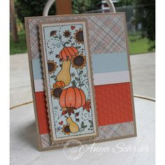 Anya used Serendipity Stamps new Pumpkins & Sunflowers rubber stamp to create her card.