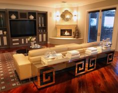 Contemporary Family Room by A.S.D. Interiors - Shirry Dolgin, Owner