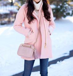 :: Pink! J. Crew Cocoon Coat