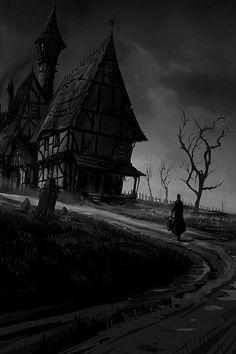 23 Ideas Creepy Drawings Dark Art Demons Paintings For 2019 Dark Fantasy, Fantasy Art, Image Halloween, Halloween Art, Halloween Witches, Happy Halloween, Halloween Decorations, Dark Gothic, Gothic Art
