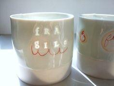 Stepanka Horalkova – Fragile – translucent porcelain cup