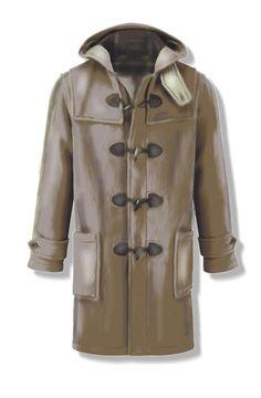 Cappotto Montgomery per uomo, due cartamodelli nelle taglie 50 e 52 (large), in file PDF formato A4