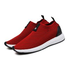 174d34ebc802dd Fashion Men Knitted Strech Fabric Breathable Non-slip Slip On Casual  Sneakers