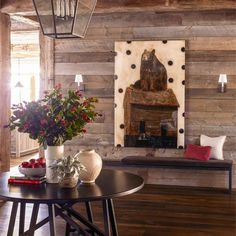 #FengShui tip from @housebeautiful Start in the Entry: Start setting the tone in the entryway by bringing high ceilings and open floor plans down to a human scale with proportional artwork and lighting, plus plenty of soft materials and a warm accent color. Designer Kylee Shintaffer blanketed the entire space in warm woods for a fully rustic feel. #fengshui #mouthofchi #chiflow #entry #foyerdecor Rustic Design, Rustic Decor, Ski Decor, Home Decor, Montana, Mountain Cottage, Mountain Cabins, Chalet Interior, Interior Design