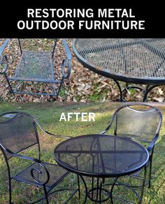 Awesome Best Way to Paint Wrought Iron Patio Furniture
