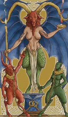 XV - Le diable - Universal Wirth Tarot par Giordano Berti & Stefano Palumbo