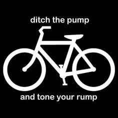 Cycling - tone your rump