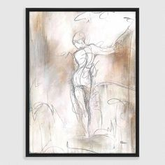 One of my favorite discoveries at WorldMarket.com: Figure Sketch Framed Canvas Print