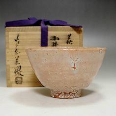 Modern Japanese Hagi Pottery Tea Bowl #1926 - CHANOYU