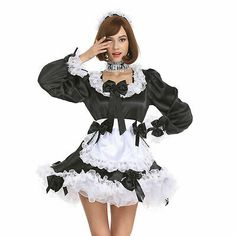 French Maid Fancy Dress, French Maid Lingerie, Cosplay Outfits, Cosplay Costumes, Maid Outfit Anime, Puffy Dresses, School Girl Dress, Sexy Costumes For Women, Lace Dress Black