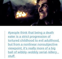 Barty Crouch Jr. / The Doctor. Time / Death Eater  WHAT?