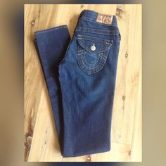"True Religion Skinny- Size 26/2. Low cut, Skinny True Religion Denim. NWOT Immaculate condition!  Measurement,  Inseam 33"",  Front Rise 8"",  Leg Opening, 12"". True Religion Jeans Skinny"