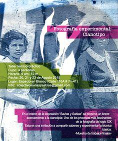 Savias y sabias se toma Espacio en Blanco!, del 13 de Agosto al 1 de Octubre (https://www.facebook.com/espacioenblancocultural?fref=nf).  Del 20 al 22 de Agosto estaremos ofertando el TALLER DE FOTOGRAFÍA EXPERIMENTAL CIANOTIPO A CARGO DE NATALIA MARÍA DEL BOSQUE (Artista y fotógrafa: NATALIA MARIA DEL BOSQUE (Artista y fotógrafa: http://cargocollective.com/nataliamariadelbosqueartist ) Cupos limitados. Preinscripciones:http://goo.gl/forms/Su9T1oam1H