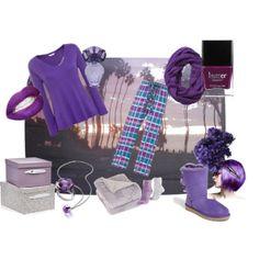 """""""Purple Pyjamas"""" by cyberjammies-uk on Polyvore"""