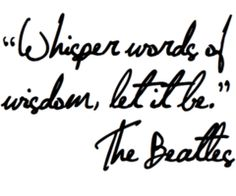 One of my favorite Beatles songs- would be a good tattoo without the Beatles part