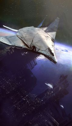 Space Ship Concept Art by Paul Chadeisson Bonetech3D Conceptart Scifi Concepts