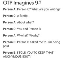 Fanfic by Person C Person a and b