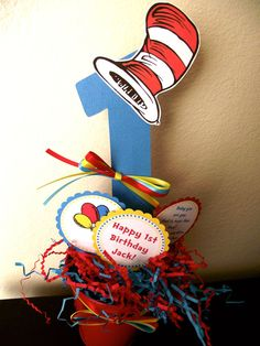 Dr Seuss Cat in the Hat Birthday Party or Baby by bellesonny, $24.99