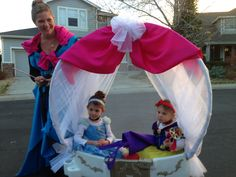 Princess carriage, diy wagon turned cinderella carriage