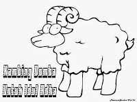 Gambar mewarnai Kambing Domba Untuk Idul Adha