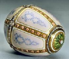 Faberge Egg: 1899 Kelch Panel Egg