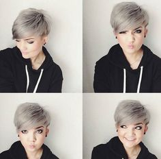 """[ """"awesome Adorable Short Hairstyles for Girls - PoPular Haircuts - Hairstyles For You"""", """"Color** Grey, Layered Pixie Cut - Short Hairstyles for Round Face Shape"""", """"I like this cut, but I Haircuts For Round Face Shape, Pixie Haircut For Round Faces, Hair For Round Face Shape, Short Hair Styles For Round Faces, Hairstyles For Round Faces, Pixie Hairstyles, Short Hair Cuts For Women, Curly Hair Styles, Short Cuts"""